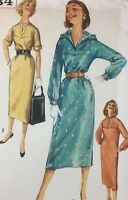 1950's Simplicity Vintage Sewing Pattern 2334 Dress Bust 311/2 Factory Folded