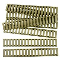 8 Pieces Heat Resistant Weaver Picatinny Ladder Rail Cover - Tan
