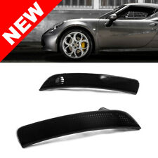 15-20 Alfa Romeo 4C Front Bumper Reflector Side Marker Lights - Crystal Smoke