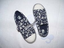 NEW Boys The Childrens Place Shoes Sneakers Size 10 Navy Has White Skulls