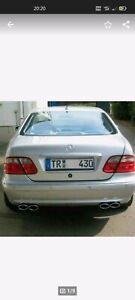Mercedes Benz CLK 200 230 320 430 55 AMG W208 Sportauspuff ESD MH DEZENT  4 Rohr