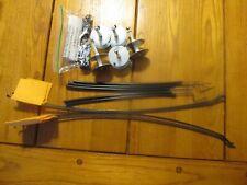 "5 Diy Ice Fishing Tip-Ups 22"" Long 300 Ft Metal Spool Orange Flags No Wood"