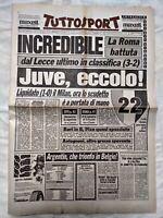 TUTTOSPORT 21 APRILE 1986 JUVENTUS A UNA PARTITA DAL 22° SCUDETTO 04
