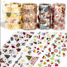 10 Rolls Holographic Christmas Halloween Nail Foil Art Transfer Stickers Classic