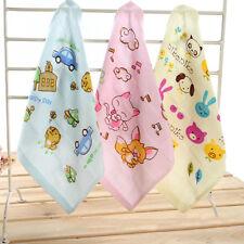 Baby Kids Cotton Towels Cute Cartoon Printed Children Towel Washcloths
