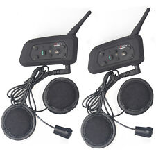 V6 1200m 6 Riders Motorcycle Bluetooth Intercom Full Face Flip up Helmet Headset