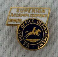"VINTAGE U.S. POST OFFICE ""SUPERIOR ACCOMPLISHMENT AWARD"" Enamel Lapel Pin"