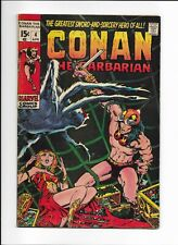 CONAN THE BARBARIAN #4 ==> FN EARLY ISSUE MARVEL COMICS 1971