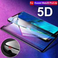 5D Tempered Glass For Huawei Mate 20 Pro / Lite Screen Protector Edge Cover Film