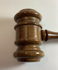 VINTAGE WOODEN GAVEL-JUDGES LAWYERS AUCTIONEERS-NEAT