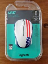 Brand NEW & SEALED!!! Logitech M317c Wireless Optical Mouse, American Flag