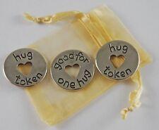 Hug Token - good for one hug Pocket Tokens Set of 3 w/Organza Bag