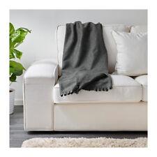 IKEA POLARVIDE Bed Couch Sofa Knee Fleece Throw Rug Blanket 130 x 170 cm in Grey