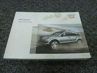 2007 Audi Q7 Owner Operator Manual User Guide Quattro Premium 3.6L 4.2L