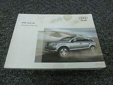 2007 Audi Q7 SUV Owner User Manual Quattro Premium 3.6L 4.2L V6 V8