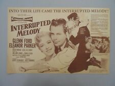 1955 Interrupted Melody movie herald mini poster ad! Unfolded printer sample!