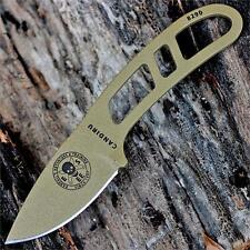 Couteau de Survie ESEE Candiru Dark Earth Brown Carbone 1095 Etui In USA ESCANDE