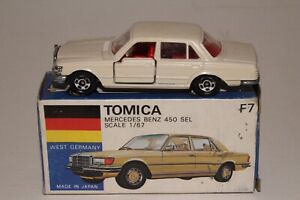 TOMICA POCKET CARS #F7 MERCEDES BENZ 450 SEL, WHITE, EXCELLENT, BOXED