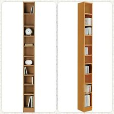 Freestanding Shelf Movie Game DVDs CD Storage Tower Adjustable Shelves Organiser