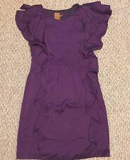 ALI RO Dress  Silk Ruffle Cocktail  Purple Sz 4 NWT