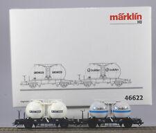 Märklin HO #46622 SJ Silo Car Set of two 2 Axle Car, N/BX, 2002 only