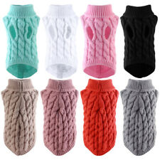 Winter Warm Dog Clothes Turtleneck Knit Pets Sweaters Puppy Pajamas Chihuahua
