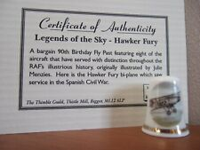 Legends of the Sky - Hawker Fury Thimble with Certificate of Authenticity (12)