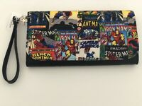 Disney Parks Marvel Avengers  Tri-Fold Clutch Bag Wristlet Thor Iron Man NWT