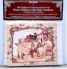FARM CHILDREN 3D GREETING CARD Stand up Display MINT/Factory Sealed Shackman
