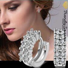 13mm Women Girls 925 Sterling Silver Filled Small Hoop Sleeper Earrings