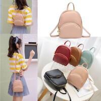 Women Girls Mini Backpack Leather Rucksack School Bag Travel Handbag