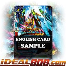 Buddyfight x 4 Glass Crystal Dragon, Wishkeht [X-BT02/0039EN R] English Mint Fut
