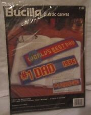 Bucilla 6189 Father's Day Bookmark Pair Plastic Canvas Needlepoint Unopened - Y