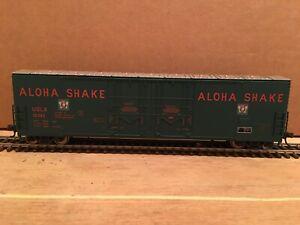 HO Atlas Aloha Shake 53' Evans Double Plug Door Boxcar USLX #10393 Metal Wheels