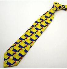 HIMYM Giallo Blue Duck Tie How I Met Your Mother Barney's Duckie Cravatta