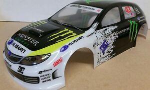 "1/10 RC car 190mm on road drift rally Subaru ""Monster Energy"" Body Shell"