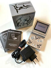 Nintendo GameBoy Advance SP Konsole Silber Tribal Edition in OVP