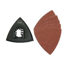Multi-Tool Triangular Delta Sanding Pad and 5 x Papers 60 GRIT By Shark Blades