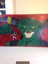 "Juzam Djinn Arabian Nights Custom 36X24"" Acrylic Mix-Media Canvas Painting"