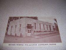 1950s BETHEL TEMPLE 17th and JULE J.E. WILSON PASTOR VTG POSTCARD