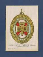 The Most Illustrious ORDER of St PATRICK  Order of Chivalry original 1915 Silk