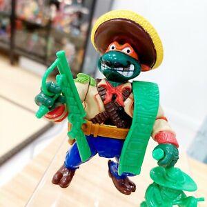 TMNT Bandito Bashin' Mike Vintage Dead Mint / Complete w/Cardback Michelangelo