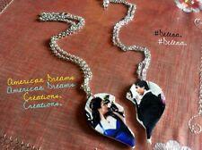 Collana Delena, Broken Heart. Necklace. The Vampire Diaries. TVD. Damon ed Elena