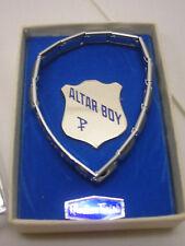 Religious Altar Boy Bracelet and Pin Rhodium Finish