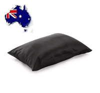 Luxury Soft 100% Mulberry Silk Pillow Case 25Momme Slip  Beauty Care Black