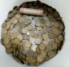 1910s Lincoln Wheat Cent Penny 50 Coin Roll Teens 1916-1919 Average Circulated