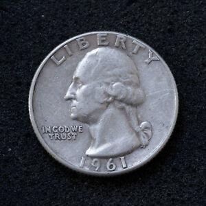 Quarter Dollar 1961 Washington USA - Silber