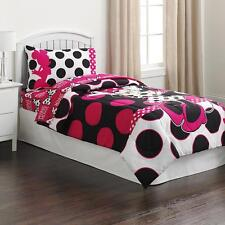 Disney's Minnie Mouse Polka Dots Twin Comforter & Sheets K(4 Piece Bed In A Bag)
