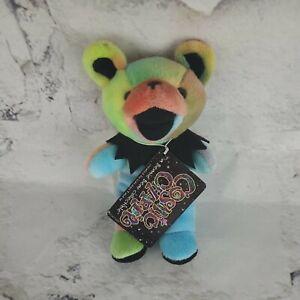 """COSMIC CHARLIE Grateful Dead beanie bear liquid blue 7"""" plush collectible"""