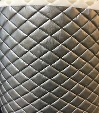 """Vinyl Upholstery Silver metallic diamond Quilted fabric with 3/8"""" Foam Backing"""